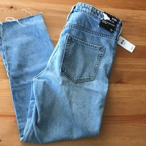 NWT GAP High Rise Raw Hem Jeans